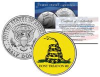 Dont Tread On Me GADSDEN ORIGINAL AMERICA FLAG JFK Kennedy Half Dollar U.S Coin