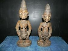 "Arts of Africa - Ebeji Twins - Nigeria - Male / Female - 12"" H - 4"""