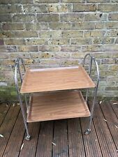 Gerlinol Vintage Retro Mid Century Folding 4 Wheel Chrome Serving Trolley