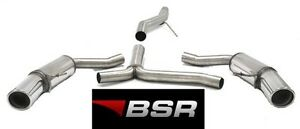 BSR EXHAUST AUDI A4 '08-'16 B8 A5 8T '06-'16 2.0 TDI STAINLESS & CHROME DUPLEX