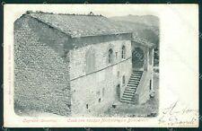 Arezzo Caprese Michelangelo Buonorroti Alterocca 1245 cartolina XB2055