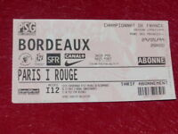 [COLLECTION SPORT FOOTBALL] TICKET PSG / BORDEAUX 29 MAI 1999 Champ.France