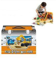 Little Bus Tayo Heavy Equipment Tools Car Play Set Korean Kids Toy Animation