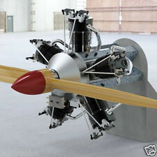 Constructional drawings 5 cylinder RC radial engine, 55 cc plans glow