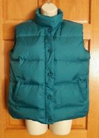 Cabela's Womens Teal Premier Northern Goose Down 650 Puffer Vest Size M
