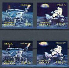 Bhutan MiNr. 436-39 postfrisch MNH Mondfahrzeuge, Kunststoff 3 D (P2700
