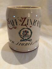 Zinkand Cafe, San Francisco Beer Stein