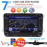 Autoradio Gps 2 Din Bluetooth DVD for Vw Golf 5 6 Passat Polo Touran Eos Tiguan
