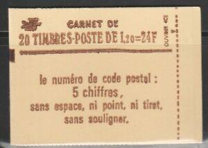 FRANCE carnet SABINE 1974c4a fauté neuf**