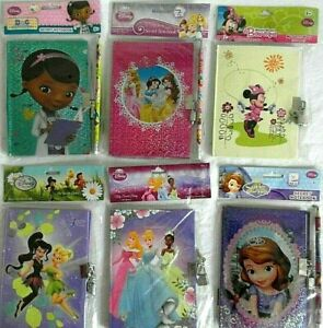 DISNEY Secret Notebook with Lock - various characters