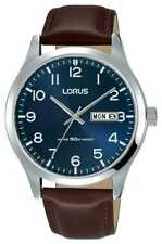 Lorus Mens Urban Dress Classic Brown Leather Strap RXN49DX9 Watch