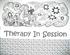Patchwork Stoff - Therapy in Session - Therapiesitzung - witziges Quilter Panel