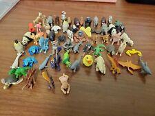 Lot Of 62 Safari Ltd Miniature Good Luck Charm Animals Zoo Ocean Dragons Farm