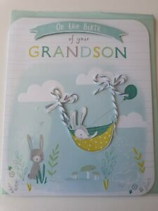 On the birth of your grandson - baby card