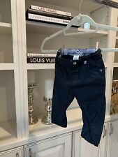 Weekend A La Mer French Baby Boy Trousers Size 18 Months Navy Blue