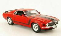 Ford Mustang, Boss, 302, 1970, - Red , Classic Metal Model Car, Welly 1/24