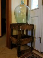 Antique 1885 Hand Blown Green Glass Carboy Demijohn Chateau Talmay Bourgogne
