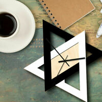 Simple Triangle Shape Wall Clock Silent Hanging Modern Clock Home Office Decor
