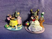 2-Fitz & Floyd Charming Tails Figurines my granddaughter my joy&my friend no box