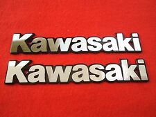 KAWASAKI Custom Panel Fuel Gas Tank Cover Badge Emblem SILVER 900 1000 650 750