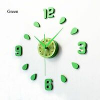 Wall Clock Kitchen Dining Watch Home Decoration Lemon Seeds Designed Time Clocks