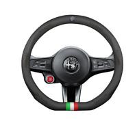 COPRI VOLANTE PELLE  LOGO Alfa Romeo x Mito Giulietta Stelvio Giulia 147 156 159