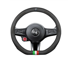 COPRI VOLANTE PELLE per Alfa Romeo x Mito Giulietta Stelvio Giulia 147 156 159