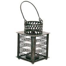 New antique green metal fretwork tea light lantern for home garden bbq or gift
