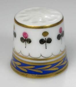 thimble porcelain flower line  Dresden handpainted Germany