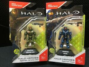 Mega Bloks Construx Halo DXR53 SPARTAN HOYA & DXR50 Jerome-092 Series 3 *Sealed*