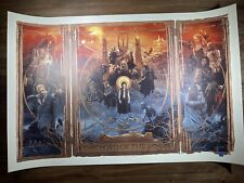 """""""Lord Of The Rings"""" Triptych Art Print Movie Poster By Gabz Timed Edition X/2400"""