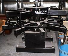 Olympian Automatic Textile Printer 8 Colors 10 Stations Silk Screen Press Tuf