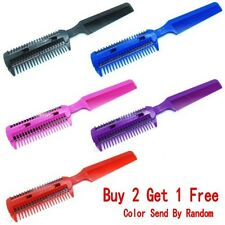 New 2 Side Hair Razor Combo Cutting Trimmer Brush Comb Salon Styling Tamer Tool
