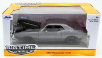 Jada Toys 1/24 Scale Model Car 98235 - 1973 Plymouth Barracuda - Charcoal Grey