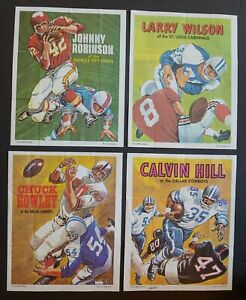 1970 Topps Football Posters Set of 4 (#9, 14, 21, 23) Hill, Robinson + Good