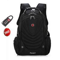 Black 15.6' Swiss Gear Backpack Computer Laptop School Bag Men's Travel Backpack