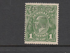 KGV 1d Green Single WMK Fine used