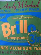 "ANDY WARHOL-  Silkscreen - Original 1970 Exhibition Poster ""Brillo Pads"""