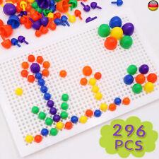 Mosaik-Steckspiel 296 Stecker Steckmosaik Spielzeug Nägel Spiel Geschenkset