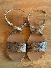 Bnwot Snakeskin Sandals Size 4