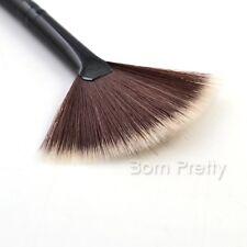 1Pc Slim Fan Brush Hair Blush Face Powder Foundation Cosmetic Makup Brush