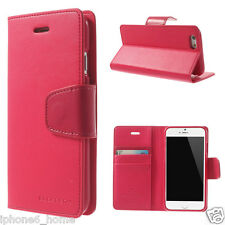Genuine MERCURY Goospery Hot Pink Leather Case Cover For iPhone 6/6s & 6/6s Plus