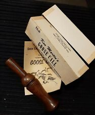 Vintage Ken Martin's Horseshoe Lake Wood Goose Call with box and booklet Nos