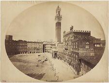 Sienne Siena Italie Italia Belle et Grande Photo Lombardi Vintage albumine