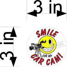 SMILE YOU ARE ON MY CAR CAM VIDEO CAMERA  VINYL DECALS SET OF THREE 3