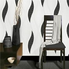LUXURY BLACK WAVE EMBOSSED TEXTURED WALLPAPER E62009  BY DIRECT WALLPAPERS NEW!!