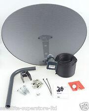 Sky Satellite Dish Zone 2 & Quad LNB + Full 10m Single Black Install Kit + MORE