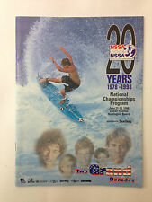 1998 NSSA National Champs Program in great condition! No Reserve!