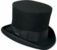 Top Hat Victorian SCALA Tuxedo Mad Hatter 100% Wool Dress Hat BLACK MEDIUM