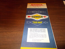 1960 Sunoco Quebec Vintage Road Map